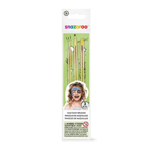 Snazaroo Starter Brush Set - Green (Set of 3)