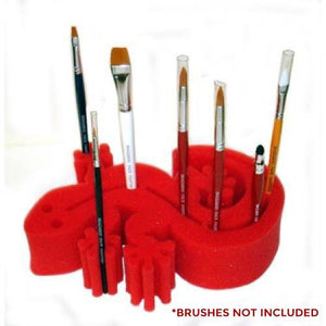 Ruby Red Gecko Brush Holders - Red