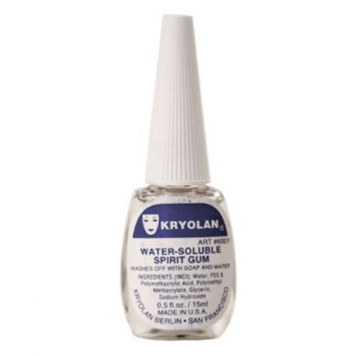 Kryolan Water Soluble Spirit Gum Adhesive (0.5 oz)