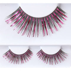 Costume Fake Eyelashes - Fuchsia/Black