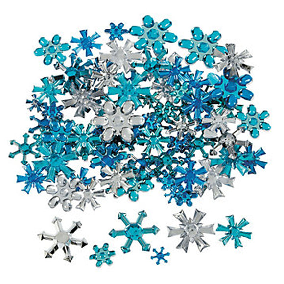Plastic Blings - Snowflakes, Assorted (approx. 30/pack)
