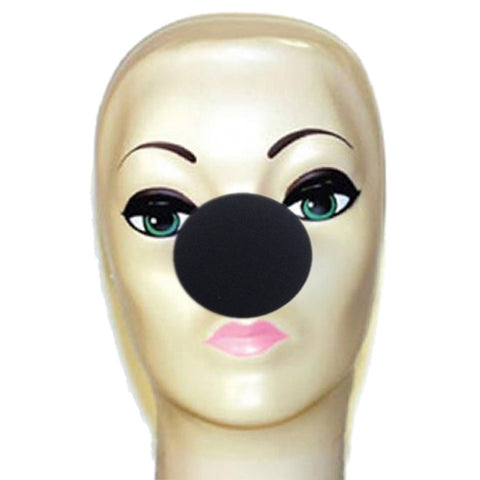 "Black Foam Clown Noses (2"")"