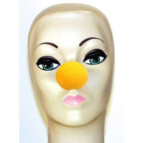 "Yellow Foam Clown Noses (1 5/8"")"