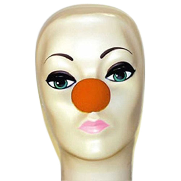 Magic By Gosh Orange Foam Clown Nose (1 3/4
