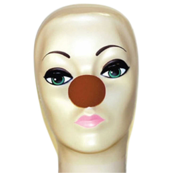Magic By Gosh Brown Foam Clown Nose (1 3/4