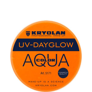 Kryolan Aquacolor Orange UV Dayglow Cosmetic Grade (8 ml)