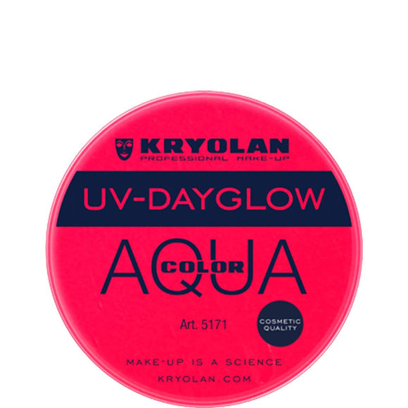Kryolan Aquacolor Red UV Dayglow Cosmetic Grade (8 ml)