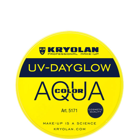 Kryolan Aquacolor Yellow UV Dayglow Cosmetic Grade (8 ml)