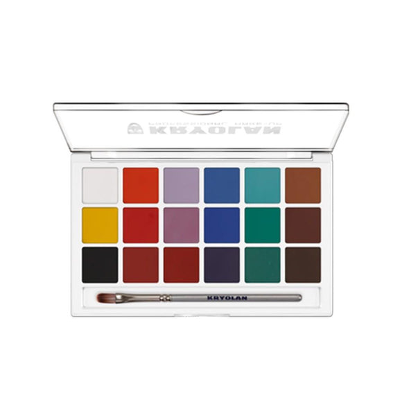 Kryolan Aquacolor Regular Face Paint Palettes (18 Colors)