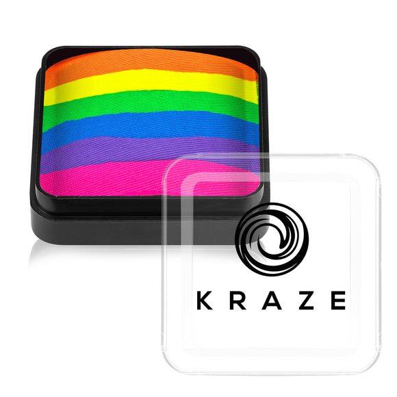 Kraze FX Domed Neon Square Split Cake - Neon Rave (25 gm)