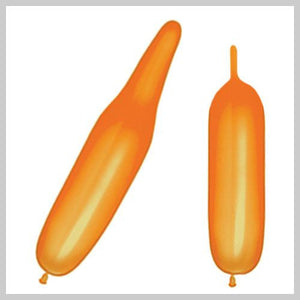 321 Bee Body Balloons - Orange (No Tip Color) (100/bag)