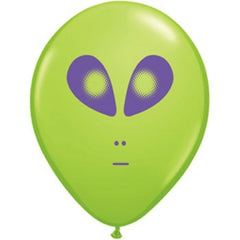 "5"" Round Alien Balloons - Green (100/bag)"