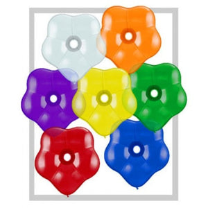Qualatex 6 inch Blossom (Geo) Balloon Jewel Tone Assortment 100/bag