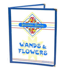 Colorful Restaurant Syle Balloon Menu - Wands & Flowers