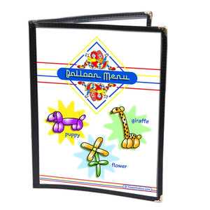 Colorful Restaurant Syle Balloon Menu - Animals