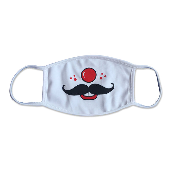 Funny Clown Mustache Physician Mask