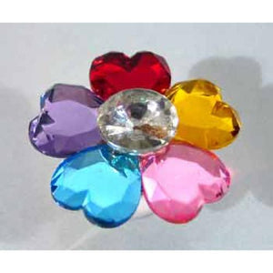 Jumbo Gem Flower Rings