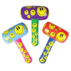 "Smiley Face Inflatable Mallet, 22"" (3/Pack)"