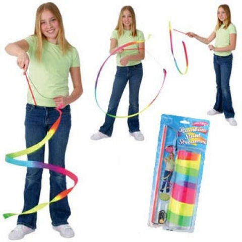 Rainbow Stunt Streamers (7 Feet)