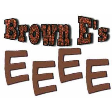 Foam Letters - Brown E's (48/bag)