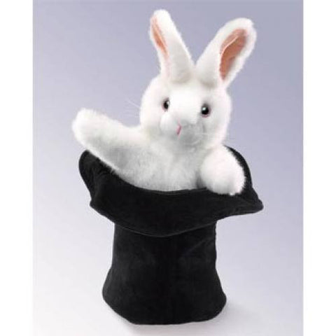 Rabbit in Hat Hand Puppets
