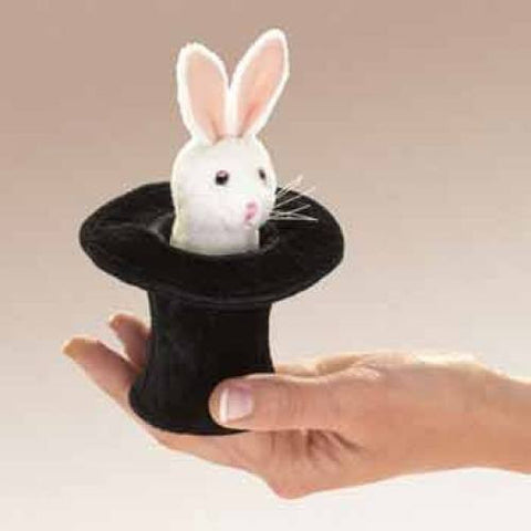 Mini Rabbit in Hat Finger Puppets