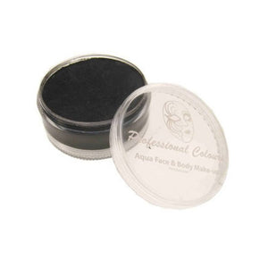 PartyXplosion Aqua Face Paints - Black (90 gm)