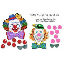 Pin The Nose On The Clown Games