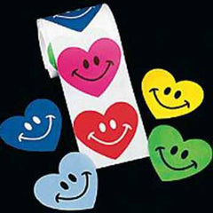 Smiley Heart Stickers