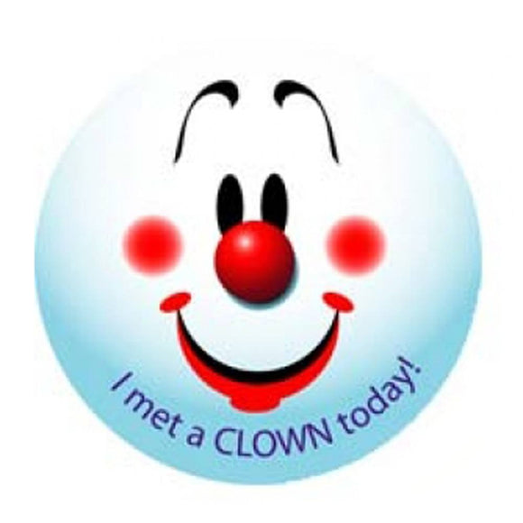 I Met A Clown Today Stickers (Blue)