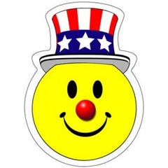 Smiley Patriotic Stickers