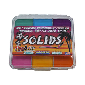 ProAiir Solids Water Resistant Makeup Palette - Tropical