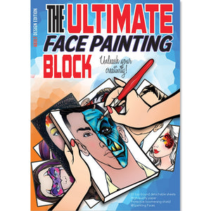 Sparkling Faces Face Painting Practice Block - Adult Edition