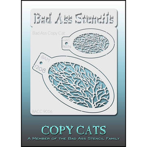 Bad Ass Copy Cat Stencils -  (9016)