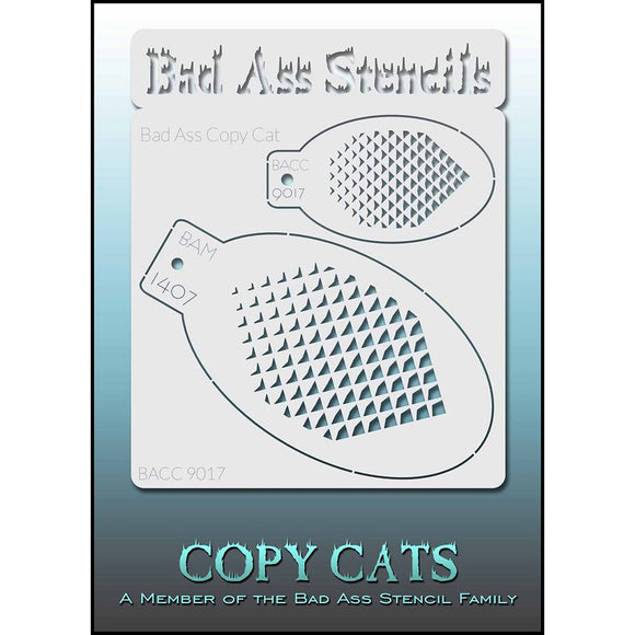Bad Ass Copy Cat Stencils -  (9017)