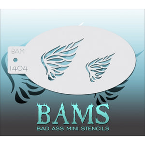 Bad Ass Mini Stencils - Feathered Wings (BAM 1404)