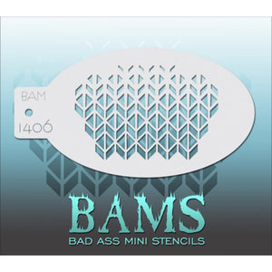 Bad Ass Mini Stencils - Cubes (BAM 1406)