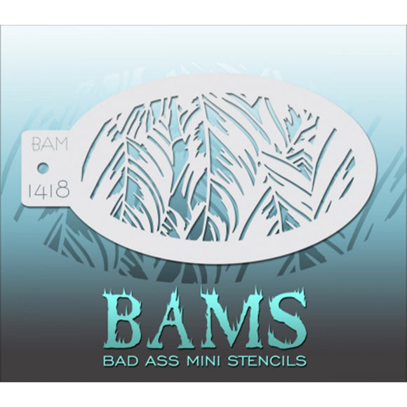 Bad Ass Mini Stencils - Grass (BAM 1418)