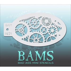 Bad Ass Mini Stencils - Gears (BAM 1421)