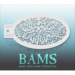 Bad Ass Mini Stencils - Floral Web (BAM 1423)