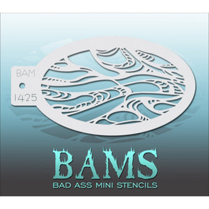 Bad Ass Mini Stencils - Abstract Swirls (BAM 1425)