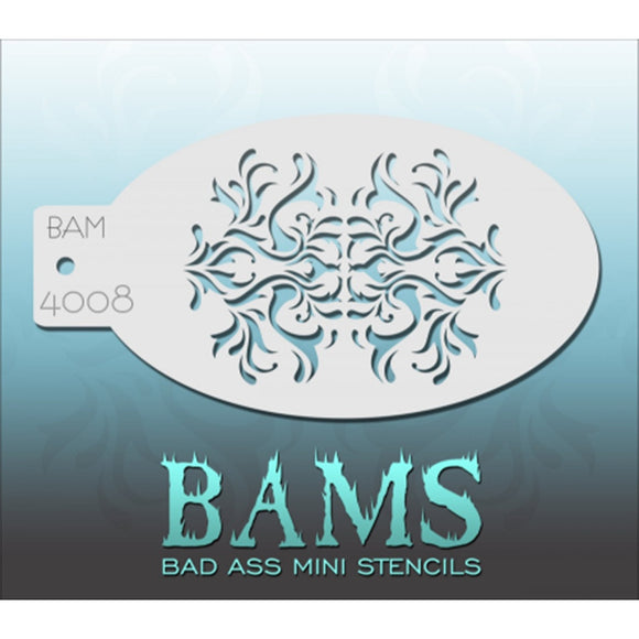 Bad Ass Mini Stencils - Baroque (BAM 4008)