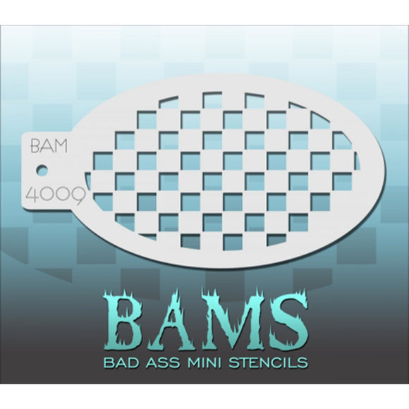 Bad Ass Mini Stencils - Checkerboard (BAM 4009)