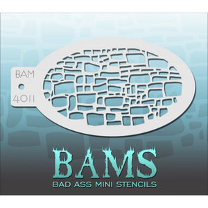 Bad Ass Mini Stencils - Cobblestone (BAM 4011)