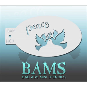 Bad Ass Mini Stencils - Peace (BAM H01)