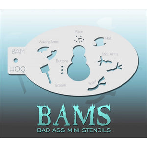 Bad Ass Mini Stencils - Frosty (BAM H09)