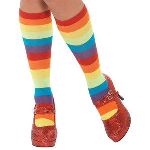 Smiffys Adult Rainbow Clown Socks (One Size)