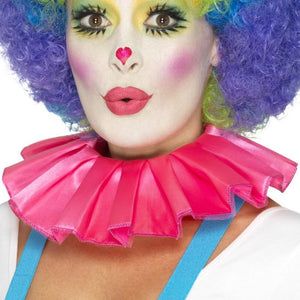 Smiffys Clown Neck Ruffle - Pink