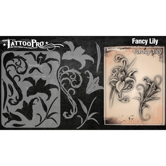Tattoo Pro Stencils Series 2 - Fancy Lily