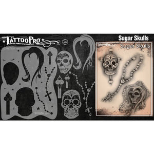 Tattoo Pro Stencils Series 2 - Sugar Skulls